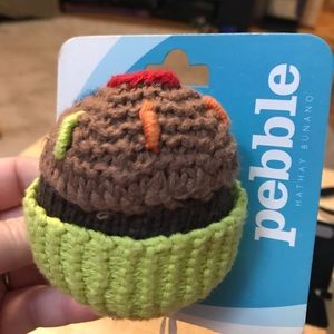 Chocolate cupcake baby rattle by Pebble, NWT